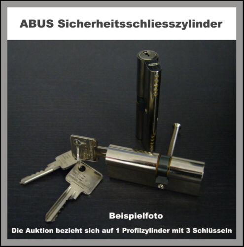 45 40 mm ABUS Sicherheits Schliesszylinder mit 3 Schlüsseln