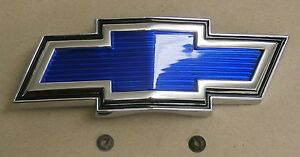 1969 70 chevrolet truck hood emblem blue bow tie. Black Bedroom Furniture Sets. Home Design Ideas