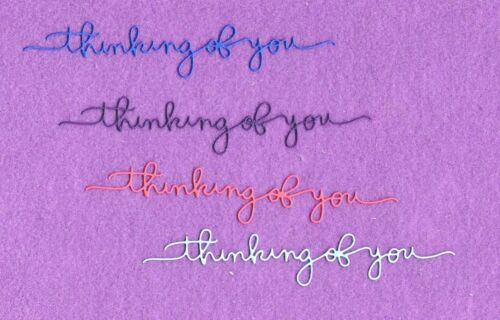 THINKING OF YOU # 2 die cuts scrapbook cards