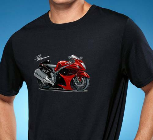 LAURDE New Designed T Shirt Suzuki Motorcycles Logo Fashion Funny Tshirts O-Neck for Man Black M