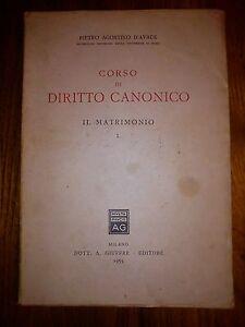 Corso-di-diritto-canonico-Il-matrimonio-Vol-I-P-A-D-039-AVACK-1961-Giuffre-ST103