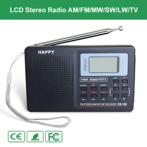 Mini-Digital-Stereo-Radio-LW-SW-TV-FM-AM-Music-Receiver-Antenna-Lamp-Alarm-Clock