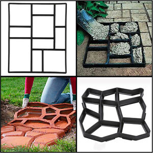 Paving Pavement Mold Patio Concrete Stepping Stone Driveway Path Walk Maker New