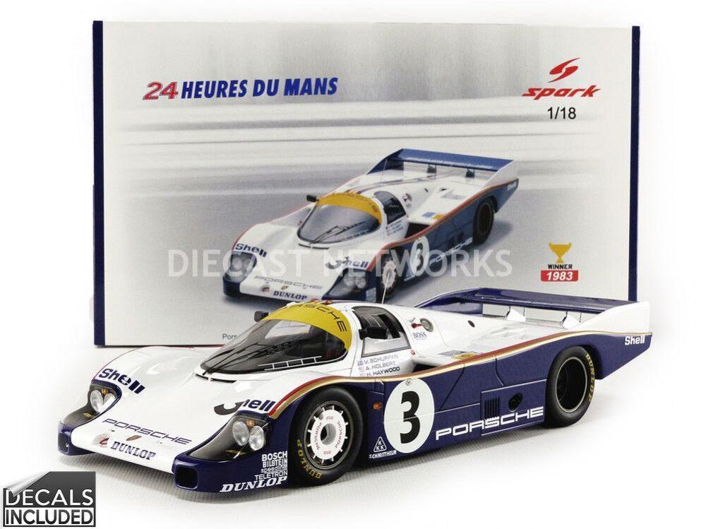 Chispa - 1/18 - Porsche 956 Rothmans-ganador Edición Limitada Limitada Limitada Mans 2018 - 18LM83 5f3a31