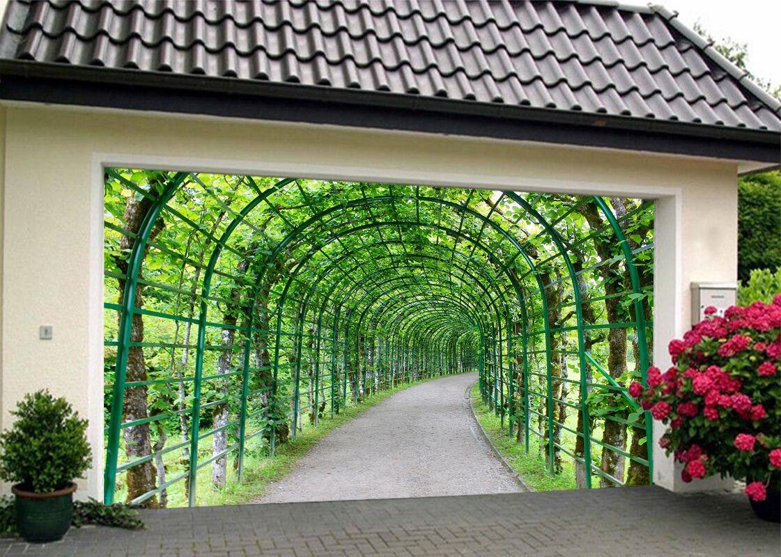 3D Grün Aisle 86 Garage Door Murals Wall Print Decal Wall AJ WALLPAPER UK Carly