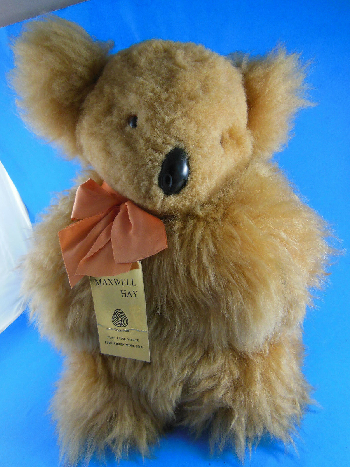 Maxwell Hay Nuovo Zealand Plush Realistic Koala Bear Virgin Wool 12  Mint with Tag