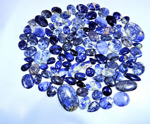 5000Cts-Natural-Blue-Sodalite-Mix-Cabochon-Loose-Gemstone-Wholesale-Lot-100Pcs