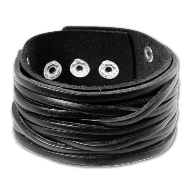 SilberDream Lederarmband schwarz Herren Leder Armband LA2249S