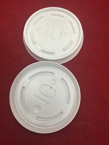 NEW-BOX-OF-1000-DINEX-Proline-Disposable-Lids-White-10-OK