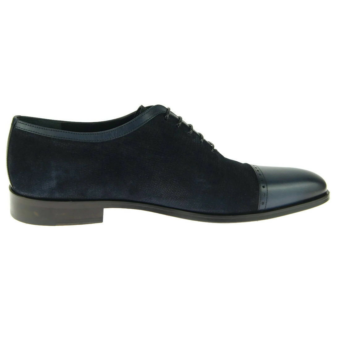 Corrente Corrente Corrente 4560 Cap Toe Oxford, Suede Leather Men's Dress shoes, bluee 4e9735