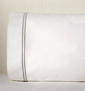 ITALY-SFERRA-GRANDE-HOTEL-COTTON-PILLOWCASES-PAIR-WITH-COLOR-STITCH-EMBROIDERY