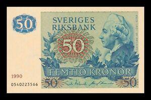 B-D-M-Suecia-Sweden-50-Kronor-1990-Pick-53d-SC-UNC
