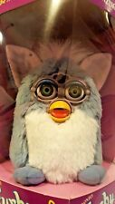 FURBY 1999 70-800 Blue Fur ~ White Belly ~ Green Eyes ~ NRFB HTF Elephant