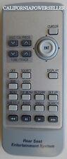 2005 Toyota Sequoia  Remote Control ~ Toyota Rear Seat Entertainment System~