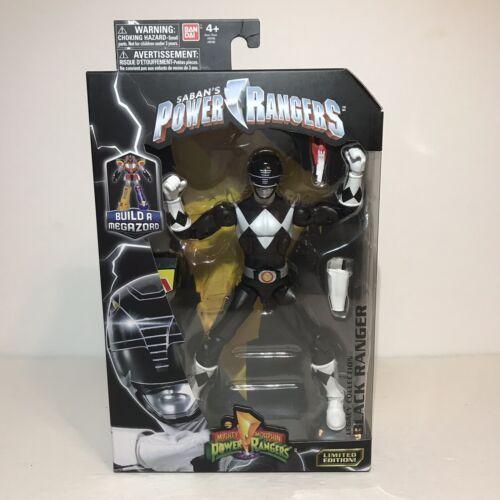 Power Rangers Legacy Collection Black Ranger Action Figure Megazord Bandai NEW