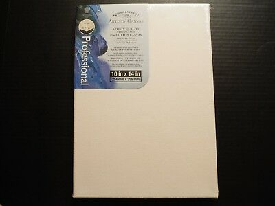 WINSOR /& NEWTON ARTIST 10X14 100/% COTTON CANVAS STRETCHED OIL WATERCOLOR ACRYLIC
