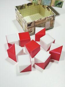 Cubi Wechsler per WAIS e WISC - kohs - misura abilità visuospaziali bianco rosso