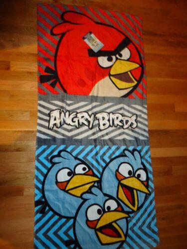Angry Birds 100% Cotton Beach Towel Bath Towel 28X58 Rovio Free Shipping