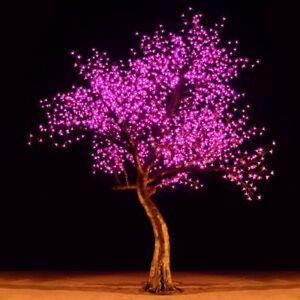 Bright-Baum-LED-Light-Cherry-Artificial-Tree-9-Feet-Pink-Garden-Decor-Christmas