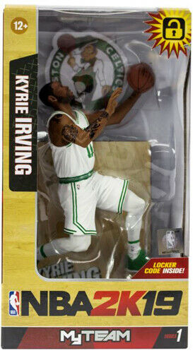 McFarlane NBA 2K19 Series 1 Kyrie Irving Boston Celtics White Jersey