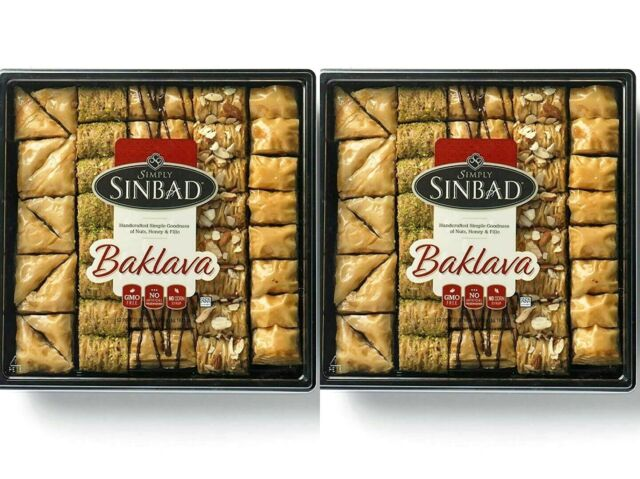 2 Packs Simply Sinbad Baklava Assortment 50 piece 34 oz Each Pack