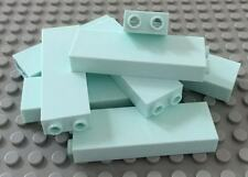Lego Lot of 8 Light Aqua 1 x 2 x 5 Brick with Blocked Open Studs #2454a