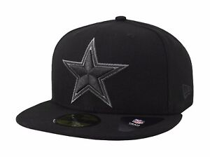 New-Era-59Fifty-NFL-Cap-Dallas-Cowboys-Basic-Fitted-Hat-Black-Charcoal-Gray