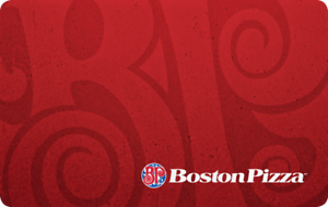 Boston Pizza Gift Card - $50 Mail Delivery