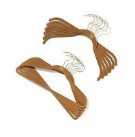 100-piece Joy Huggable Hangers® Suit & Shirt Hangers Set, Rich Camel Brass Top