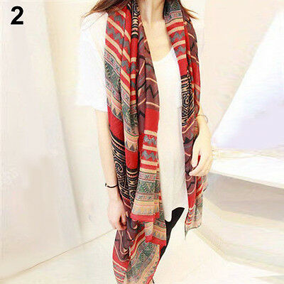NOVELTY BOHEMIAN WOMENS VOILE SOFT SILK SCARF LARGE SHAWL SCARVES PASHMINA CAPE