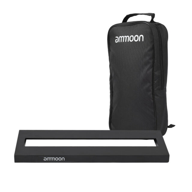 ammoon Mini Aluminum Alloy Guitar Pedal Board with Carrying Bag and Tapes F8P8