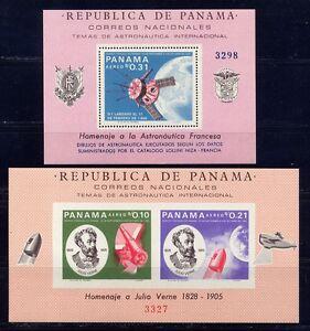 Panama 1966 Raumfahrt Space Jules Verne Satellit Block 63 + 64 Postfrisch MNH