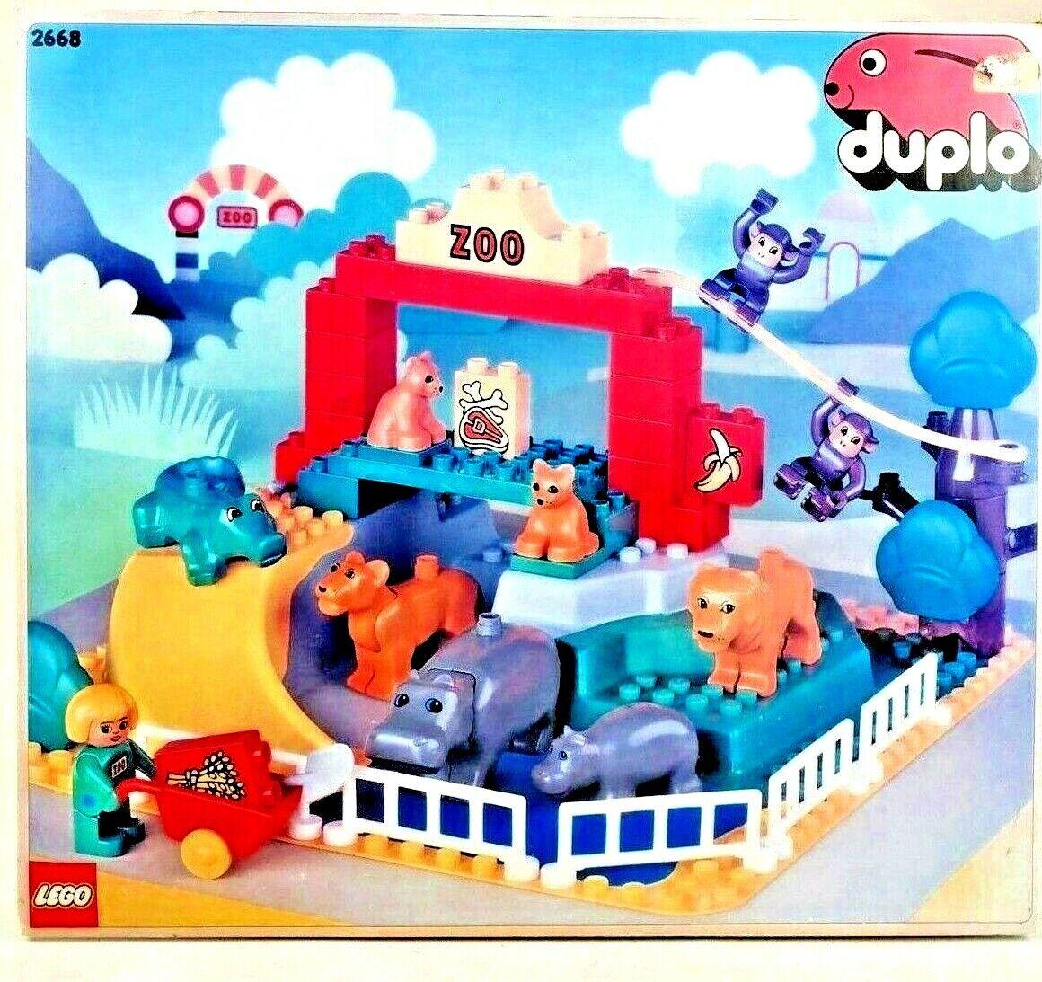 RARE VINTAGE 1991 LEGO DUPLO 2668 ZOO PLAY SET NEW