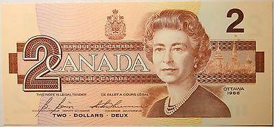 Gem UNC Canada 1986 $2 Bonin-Thiessen paper money Bank Notes Consecutive SNs