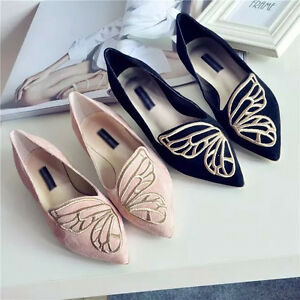 Women-039-s-Suede-Ballet-Dolly-Boat-Shoes-Slip-On-Flats-Loafers-Single-Butterfly
