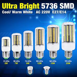 E14 E27 3//6//9//12//15W LED Birne Mais Lampe Leuchtmittel Maisbirne Glühbirne A+
