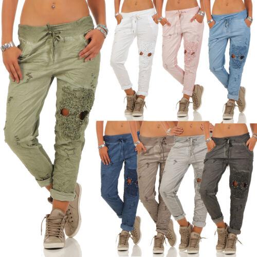Pantaloni Haremshose Pantaloni Ricami teschio con Pantaloni UvZnx1S