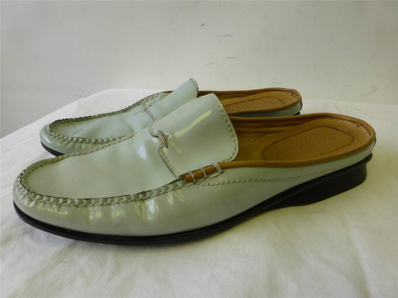 Womens COLE SANDALS HAAN Resort turquoise patent leather loafers SLIP SANDALS COLE shoes 6 B ff69e3