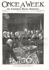 The Late General Sherman   -  Original Antique Print  - 1891