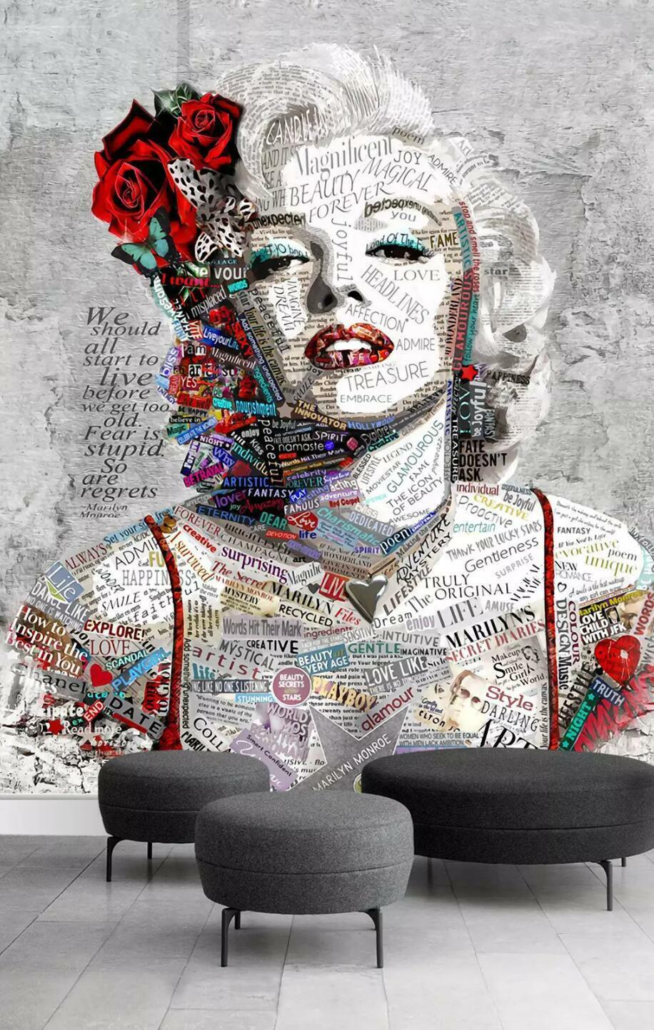 3D Actress Poster 56 Wall Paper Exclusive MXY Wallpaper Mural Decal Indoor wall