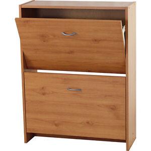 FLIP-Compact-2-Drawer-Shoe-Storage-Cabinet-Pine-ZAS045032010