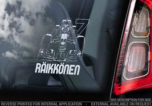 Kimi Raikkonen #7 Voiture Fenêtre Autocollant-Formule 1 F1 DECAL FERRARI Sign-V05 NEUF