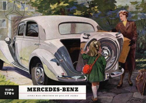 Vintage Mercedes Benz Type 170v Poster