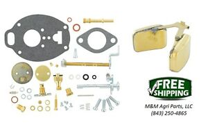 Allis-Chalmers-D17-WD45-Carburetor-repair-kit-amp-float-Marvel-Schebler-Carb