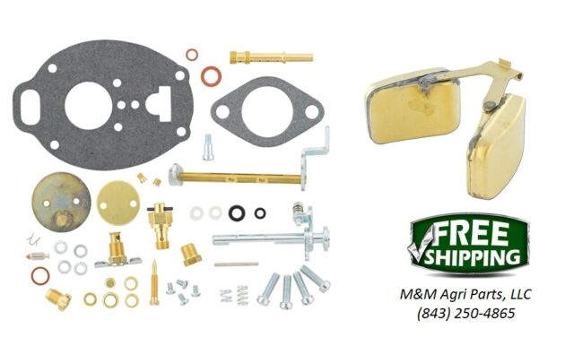 Allis Chalmers D17 WD45 Carburetor repair kit & float - Marvel Schebler Carb