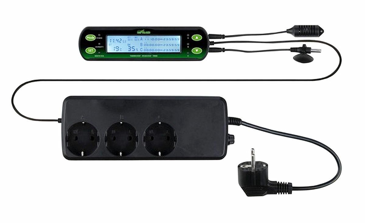 Trixie digitaler Thermostat Plus 3 Schaltkreise Heizen Kühlen Temperaturregler