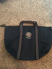 New Barbour Polo Crest Overnight Bag Waxed Cotton Leather Grip Duffel