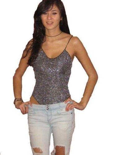 Sparkle Lurex justaucorps//body.//Haut Taille UK 6-10