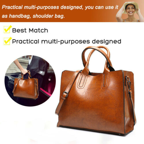 New Ladies Women Fashion Large Leather Tote Hobo Shopper Shoulder Bag Handbag UK