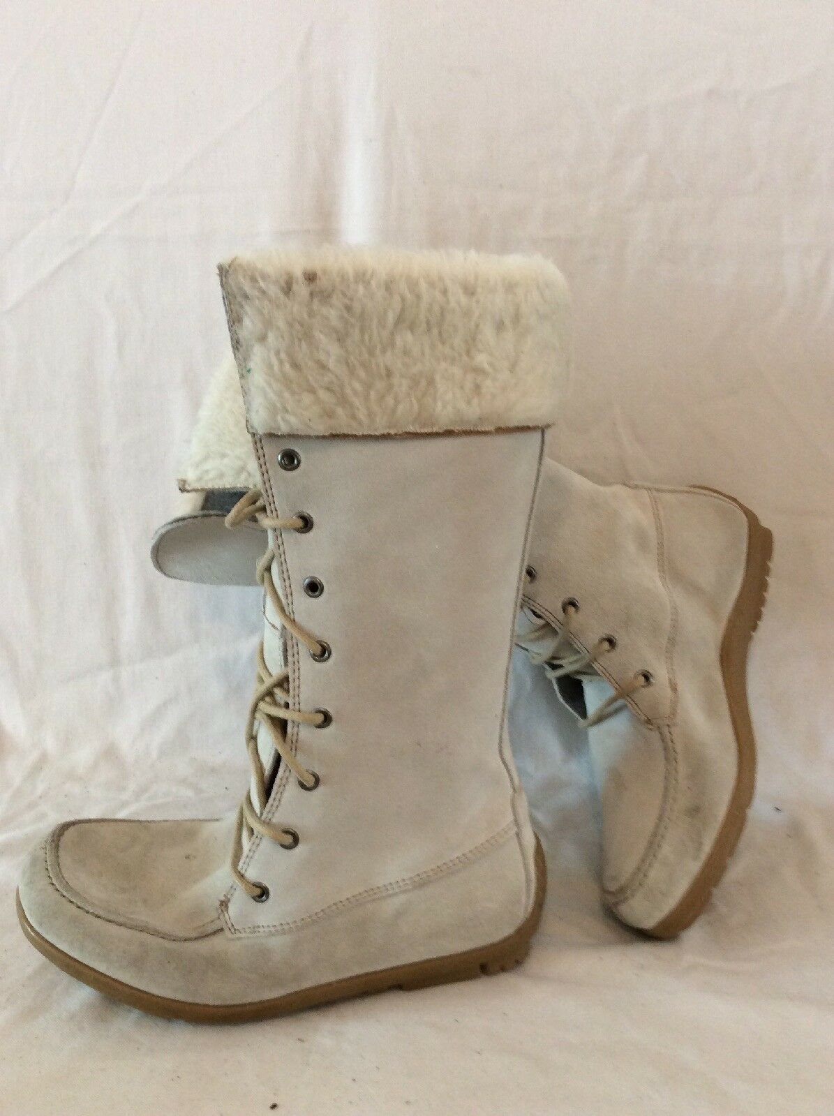 Next Light Grey Mid Calf Suede Boots Size 36